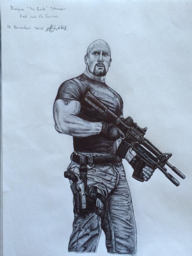 Dwayne The Rock Johnson Drawing